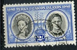 Turks And Caicos Islands 1948  2sh Victoria And George VI Issue #98 - Turks And Caicos