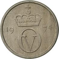 Norvège, Olav V, 10 Öre, 1974, TB+, Copper-nickel, KM:416 - Norvège