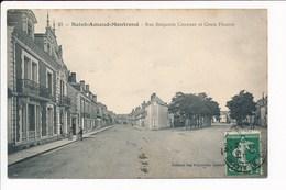 Carte De SAINT AMAND MONTROND Rue Benjamin  Constant Et Cours Fleurus   ( Recto Verso ) - Saint-Amand-Montrond