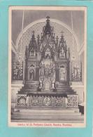 Small Postcard Of Inside St.Andrew`s Church,Bombay,Mumbai, Maharashtra, India,Q91. - India