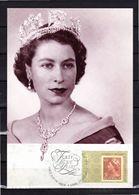 """Carte Maximum PAP D'Australie """" REINE HELIZABETH II """". Voir Le Scan. CM - Familles Royales"""