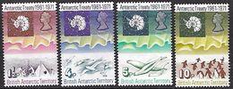 British Antarctic Territory  1971 Sc#39-42  Treaty Set  MNH**   2016 Scott Value $53.50 - Unused Stamps