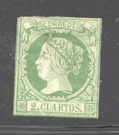 1860  Isabel II Ed 51 2 Cuartos  Sin Gomma - 1850-68 Royaume: Isabelle II