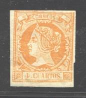 1860  Isabel II Ed 52  4 Cuartos  * - 1850-68 Reino: Isabel II