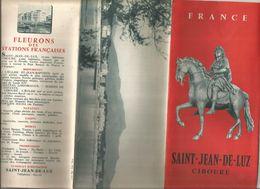 Dépliant Touristique, 6 Pages , SAINT JEAN DE LUZ , CIBOURE  , 2 Scans , Frais Fr :1.55 E - Dépliants Touristiques