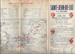Dépliant Touristique, 6 Pages , SAINT JEAN DE LUZ Et Région ,1959  , 2 Scans , Frais Fr :1.55 E - Dépliants Touristiques