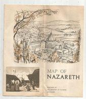 Dépliant Touristique, 12 Pages , MAP Of NAZARETH, Israel  , 2 Scans , Frais Fr :1.75 E - Dépliants Touristiques