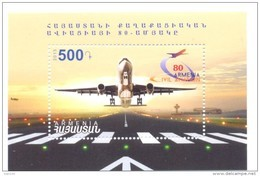 2013.  Armenia, 80y Of Armenian Aviation, S/s,  Mint/** - Arménie