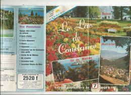 Dépliant Touristique, 12 Pages , Voyages Ruban Bleu à Travers La Suisse ,l'Autriche...  , 2 Scans , Frais Fr :1.55 E - Dépliants Touristiques