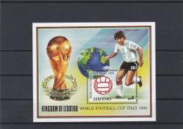 Lesotho 1990 FIFA World Cup Football Italy Souvenir Sheet MNH/** (H29) - Coupe Du Monde