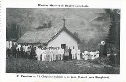 Missions Maristes De Nouvelle Calédonie - 72 Chapelles: Kavath Près Hienghène - Nouvelle-Calédonie