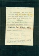BRESCIA-CESARE NOVA-1905-AFFRANCATA COL 2 CENT. - Avvisi Di Necrologio