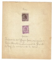 21A Et 21B  Obl  Ce Dernier Faux Avec Explications - 1865-1866 Linksprofil