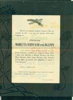 BRESCIA-MARIETTA VERNESCHI VEDOVA BUZZONI-1909-AFFRANCATA COL 2 CENT. - Avvisi Di Necrologio