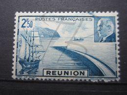 VEND BEAU TIMBRE DE LA REUNION N° 179 , MACULAGE EN HAUT , XX !!! - Réunion (1852-1975)