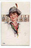 CPA   Illustrateur  : Jeune Femme ITALIE    Militaria    A  VOIR  !!!!!!! - Andere Illustrators