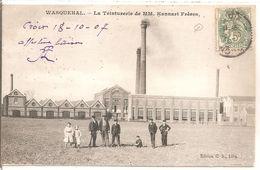Cpa 59 Wasquehal La Teinturerie De MM. Hannart Freres Carte Rare - Other Municipalities