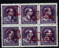 724 O  Bloc 6  **  Double Surc. Rose Et Noire - 1946 -10%