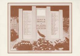 76 - DEVILLE LES ROUEN - Commémoration Du Bombardement Aérien Du 24 Juin 1944 - France