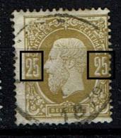32  Obl  Luppi V 7  Les 2  Griffe Et Tache - 1869-1883 Léopold II