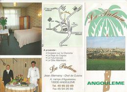 Publicité , Restaurant LE PALMA , ANGOULEME , CHARENTE , 6 Pages , 2 Scans ,   Frais Fr 1.55 E - Advertising