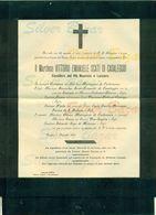 TORINO-MARCHESE VITTORIO EMANUELE SCATI DI CASALEGGIO-CAVALIERE DEI SS MAURIZIO E LAZZARO-1904-AFFRANCATA COL 2 CENT. - Avvisi Di Necrologio