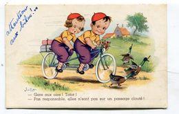CPA  Illustrateur :  JIM PATT  Totor Et Vélo Avec Oies    VOIR  DESCRIPTIF   §§§ - Autres Illustrateurs
