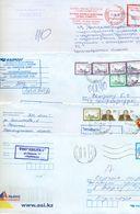 Kazakhstan. Four Envelope Passed The Mail. Two Envelopes Registered. - Kazakhstan