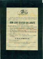 TORINO-DON LUIGI GUASCO GALLARATE DEI MARCHESI BISIO-1899- + BUSTA-AFFRANCATA COL 2 CENT. - Avvisi Di Necrologio