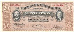 Mexico , Estado De Chihuahua, 20 Pesos 1915, UNC. - Mexico