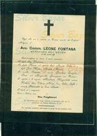 TORINO-AVV.COMM. LEONE FONTANA SENATORE DEL REGNO-1905-AFFRANCATA COL 2 CENT. - Avvisi Di Necrologio