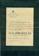 TORINO-GIOVANNI BATTISTA INTRA-PREFETTO ACCADEMIA VIRGILIANA-1907--AFFRANCATA COL 2 CENT. - Avvisi Di Necrologio