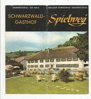 Publicité, Allemagne, Gasthof , Auberge Spielweg, Obermünstertal ,8 Pages, 2 Scans,  Frais Fr 1.55 E - Advertising
