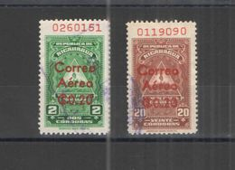 Nicaragua PA 1961 Consular Scott.C456+460 +See Scans  Usati  In Scott.Album - Nicaragua