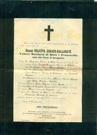 TORINO-FELICITA GUASCO-GALLARATE-VEDOVA MARCHESA DI BISIO E FRANCAVILLA-CONTI DI GROPPELLO-1902--AFFRANCATA COL 2 CENT. - Avvisi Di Necrologio