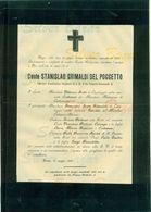 TORINO-CONTE STANISLAO GRIMALDI DEL POGGETTO UFFICIALE DI S.M. RE VITTORIO EMANUELE II°-1903--AFFRANCATA COL 2 CENT. - Avvisi Di Necrologio