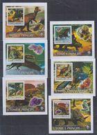 H62. MNH S Tome E Principe Nature Animals Prehistoric Animals Dinosaurs Imperf - Prehistorics