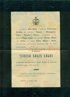 SONDRIO-CONTESSA TERESA SALIS CALVI- 1909--AFFRANCATA COL 2 CENT. - Avvisi Di Necrologio
