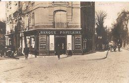 Cpa 92 Carte Photo Nanterre La Banque Populaire Carte Rare - Nanterre