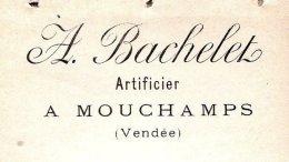 BACHELET   Artificier à MOUCHAMPS  (Vendée)    1894 - Lettres De Change