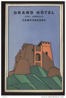 ETIQUETTE D´HOTEL - ITALIE - CAMPOBASSO - GRAND HOTEL DEL GRECO - Advertising