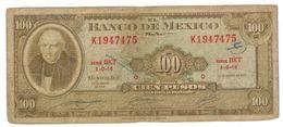 Mexico , 100 Pesos 1971, VG. - Mexico