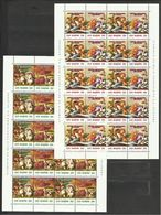 1992 San Marino Saint Marin MOSTRA MICOLOGICA, FUNGHI Dittico 10 Serie Di 4v. In Foglio MNH** MUSHROOMS Sheet - Funghi
