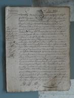 Généralité D'Amiens,15 06 1784 , 2 Sols 4 Deniers X 5 ,inventaire . TTB . Très Intéressant Du Point De Vue Documentaire. - Seals Of Generality