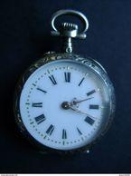 Montre Ancienne Argent Avec Nom Gravé (Albertine) 4 Scans - Watches: Bracket