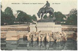 Bruxelles - CPA - L'Abreuvoir Du Square Ambiorix - Places, Squares