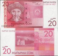 Kyrgyzstan 2009 - 20 Som - Pick 24 UNC - Kyrgyzstan