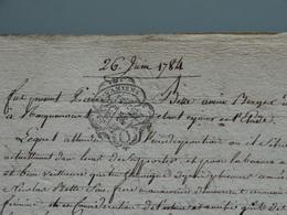 Généralité D'Amiens 26 06 1784 , 2 Sols 4 Deniers , Donation  . TTB . - Seals Of Generality