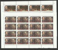 1992 San Marino Saint Marin GIACOMO ROSSINI 16 Serie Di 2v. MNH** In Foglio Sheets - Musica