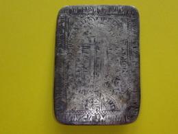 XVII / XVIII Age - JEWISH MENORA AMULET, JUDAICA, 4,5X6cm. Silver 14,72 Gram - Silverware